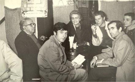 Enrique con Pepe de la Matrona a la derecha
