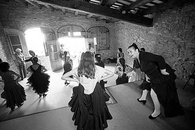 Matilde Coral dando clases