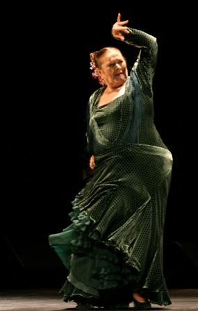 Matilde Coral en una de sus últimas actuaciones