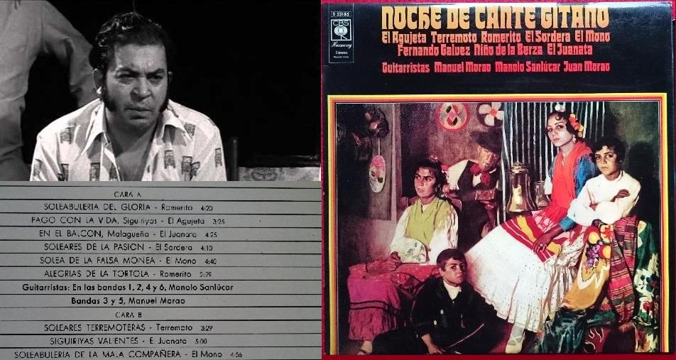 """Programa.- """"De Terremoto y un LP llamado Noche de Cante Gitano de 1970 (y2)"""""""
