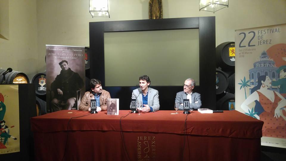 """El Festival de Jerez acoge la presentación del libro """"José Cepero, el poeta delcante"""""""