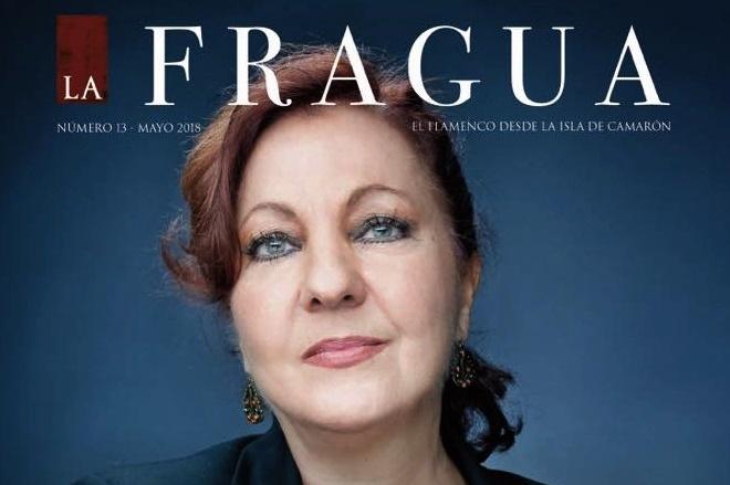 Carmen Linares portada de la revista La Fragua de la Isla de SanFernando