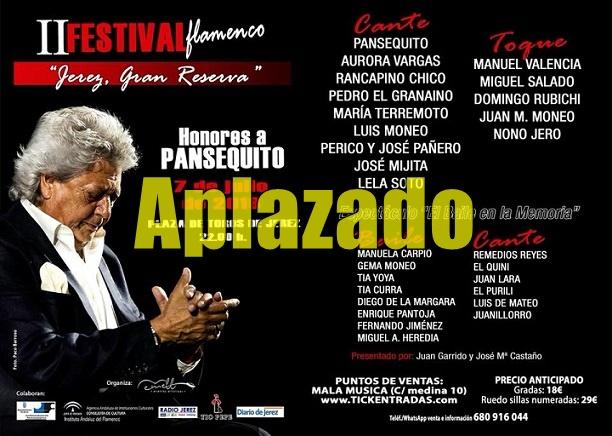 Última hora: Aplazamiento del Festival Jerez Gran Reserva previsto para el 7 dejulio
