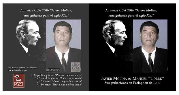 """Javier Molina & Manuel """"Torre"""", edición especial para las Jornadas de EstudioUCA"""