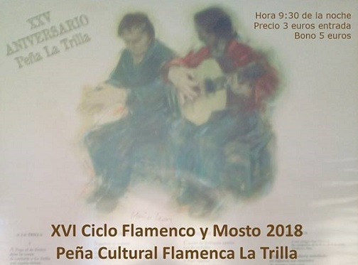 Programa del XVI Ciclo Flamenco y Mosto de la Peña La Trilla de Trebujena2018