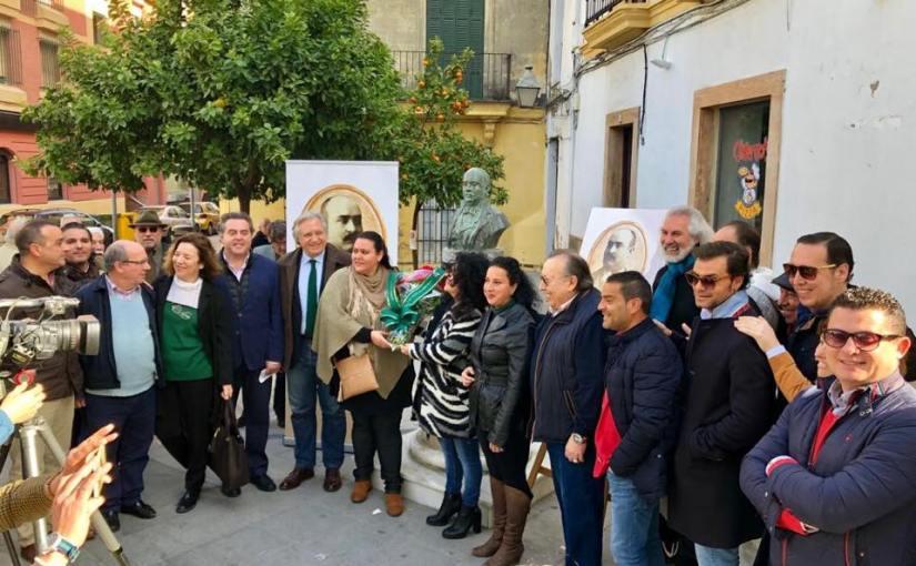 Una ofrenda floral abre los actos del 150 aniversario de Don AntonioChacón