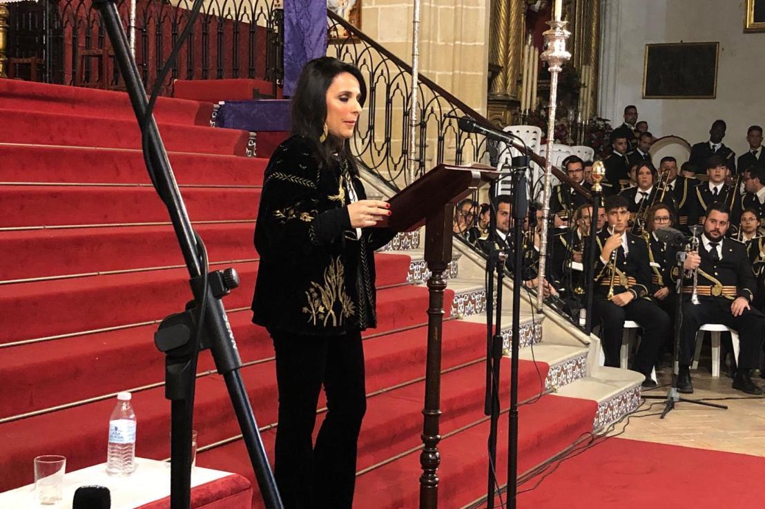 Patricia Moreno, saetera de la palabra en la Iglesia de SanMateo