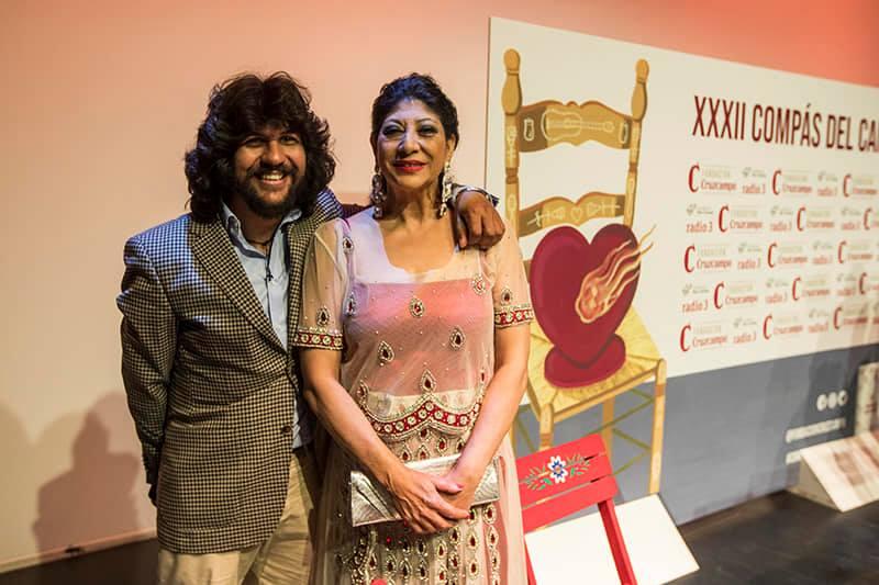 """Manuela Carrasco y Rancapino chico, recogen sus premios """"Compás delCante"""""""