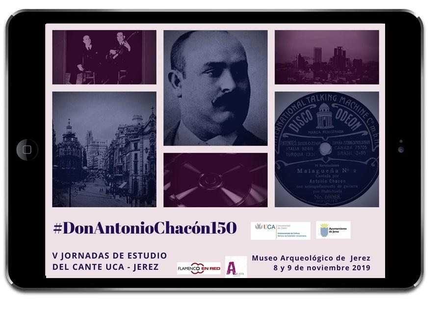 Programa de la V Jornadas de Estudio del Cante #DonAntonioChacón150, UCAJerez