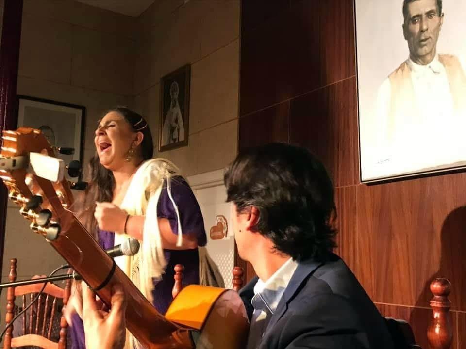 Programa.- Recital con sonido directo de Rosario Heredia en la peña Tío José dePaula