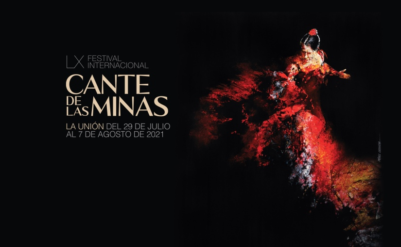Cartel anunciador del LX Festival Internacional del Cante de lasMinas