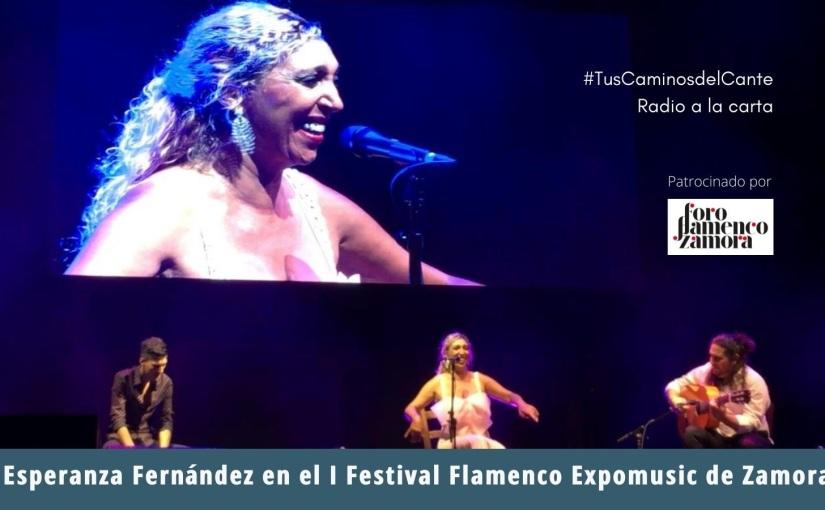 Esperanza Fernández en el I Festival Flamenco Expomusic deZamora